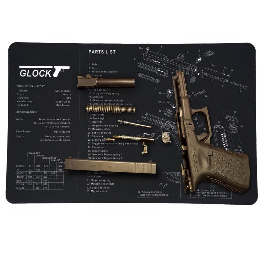 Gun Cleaning Mat Pad Patches Gunsmith Armorer Bench For Glock 17 19 26 1911 Sig Sauer P226 P229 Springfield XD Tool Kit
