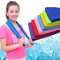 Hot Summer Sport Ice Towel 10 Colors 88*33cm Utility Enduring Instant Cooling Face Towel Heat Relief Reusable Chill Cool Towel