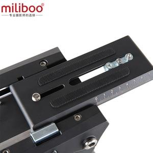 Image 2 - Miliboo m8 cabeças fluidas video do filme da transmissão profissional carregam o suporte resistente da câmera do tripé 15 kg com bacia de 100mm