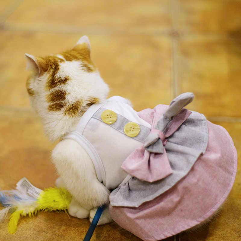 Kot domowy sukienka dla psa ubrania kamizelka dla psa dla małych psów koty księżniczka sukienka Party kostium kota suknia ślubna ubrania dla zwierząt strój 45