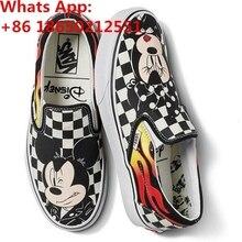 New Vanses DISNEYS Classic Slip On Mickey Mouse Canvas Unisex Size(China) 8560269660f9