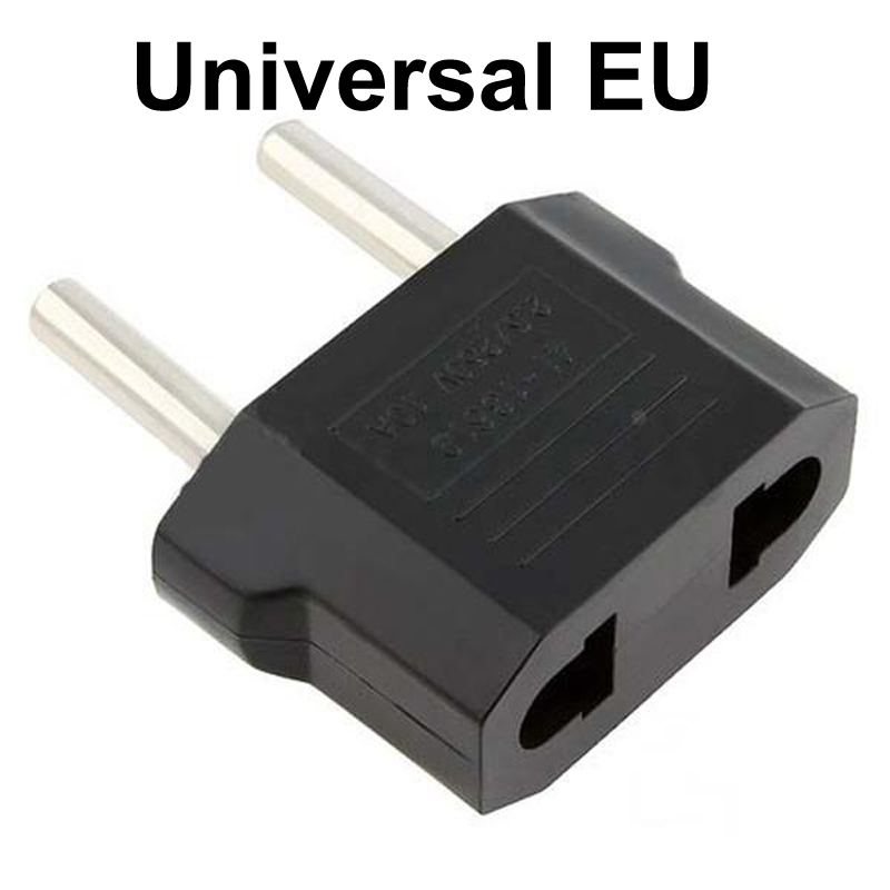 1Pcs EU Plug Adapter 2 Pin To EU 2 Round Pin Plug Socket Input AC 110V-250V 10A Travel Plug Converter Power Adapters 220V