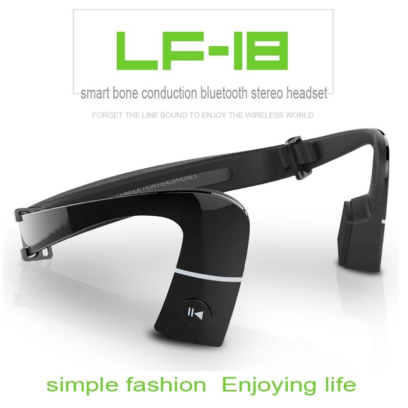 ФОТО Free Shipping!!LonFine LF18 Smart Bluetooth 4.1 Bone Conduction Earpiece Headphone For IOS Android