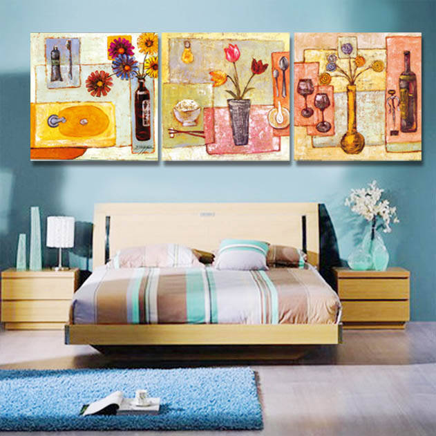 2016 Cuadros Wall Pictures For Living Room Free Shipping Abstract Flower World Canvas Wall Art Home Decorate Paintings 3 Piece