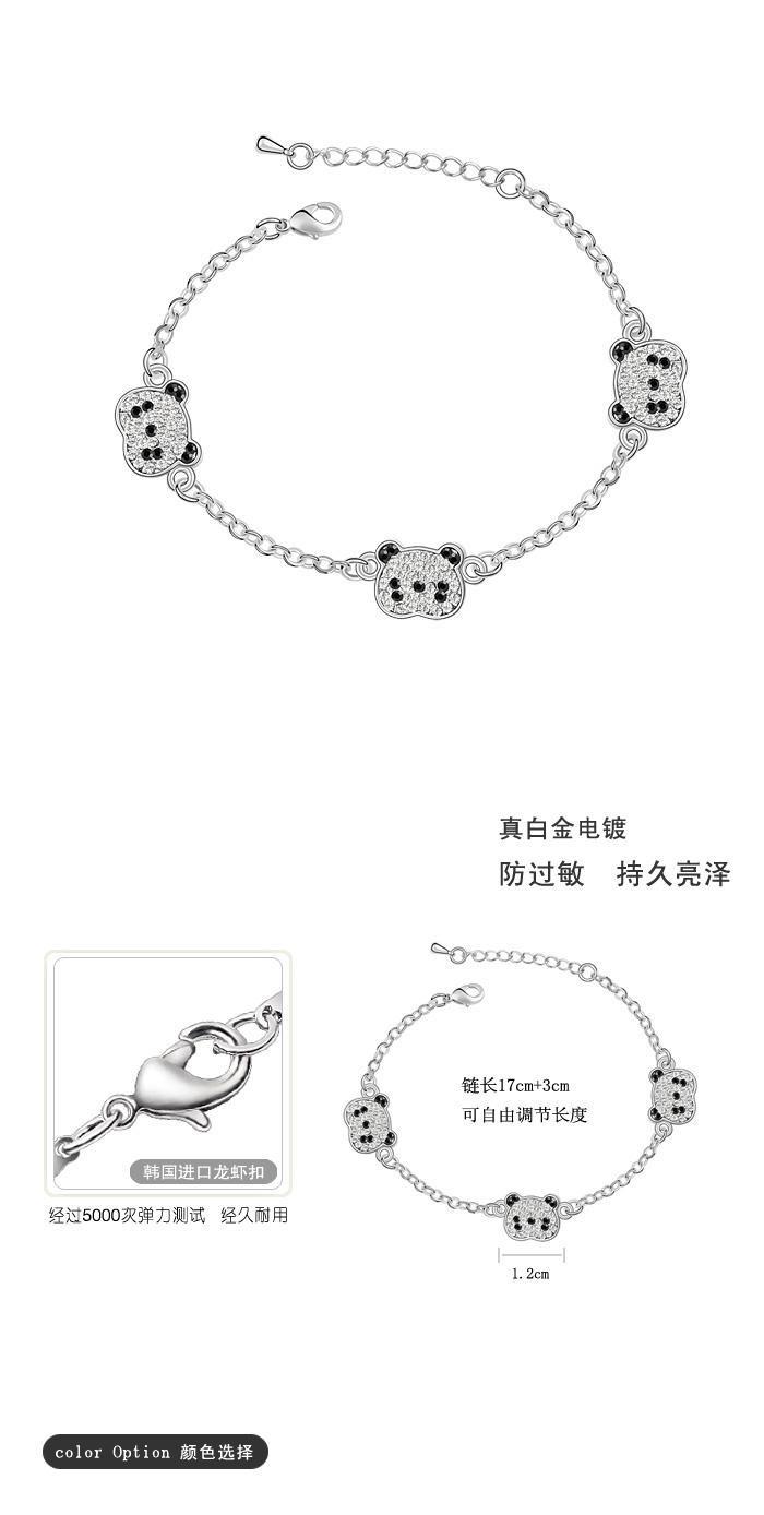 bebella кристалл панда Charm браслет с Эми Кристал на день матери подарок