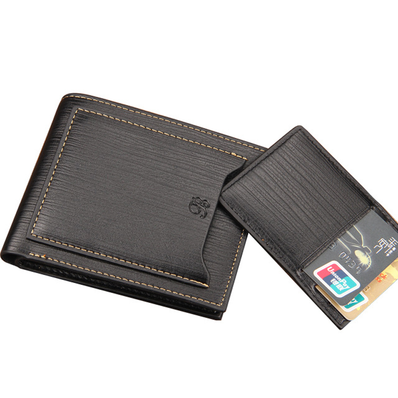 Baellerry Men Luxury Small Wallet Short Purse Money Bag PU Leather Pocket Cuzdan Main Pochette Carteras Portfolio Design Clutch baellerry man wallets portefeuille homme card holder coin pocket cuzdan rfid male cuzdan purse clutch short purse with 6 styles