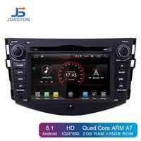 JDASTON Android 8,1 Автомобильный мультимедийный плеер для Toyota RAV4 2007 2008 2009 2010 2011 2 Din автомобильный радиоприемник 2 ГБ + 16 ГБ, gps Navi DVD RDS