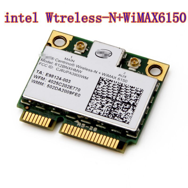 Intel Centrino Advanced N WiMAX 6150 612BNX HMW Half Mini PCI-e Wireless WLAN Card WiMax(China)