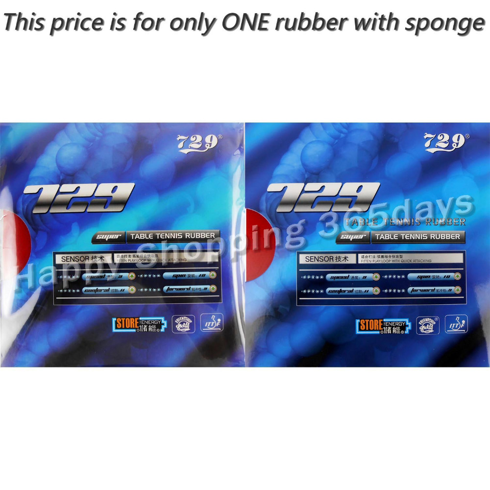RITC 729 Friendship SUPER FX-729 GuoYuehua Pips-in Table Tennis Pingpong Rubber With Sponge