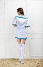 Japanese Student Girls Swimwear Uniform Sexy Bathing Suits Hoodie Sweatshirt Sailor Anime Costume Fancy Bikini For Women