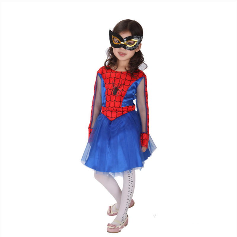 Spider Girls Spiderman Costumes For Children Girls Kids Christmas New Year Halloween Party Dress Anime Cosplay Carnival Costume