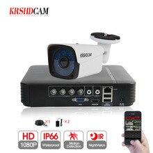 KRSHDCAM 4CH CCTV системы 1080N 5in1 DVR 1080 P AHD камера 1 шт. 3000TVL Водонепроницаемый Открытый безопасности дома товары теле и видеонаблюдения комплект