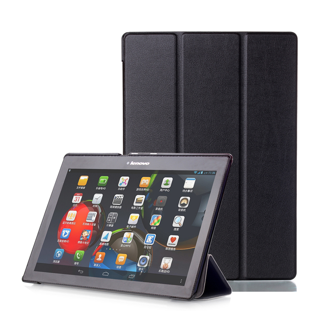 Slim Stand Cover Leather Case For Lenovo Tab 2 Tab2 A10-70 A10-70F A10-30 X30F Tab 3 10 Business TB3-X70F TAB-X103F