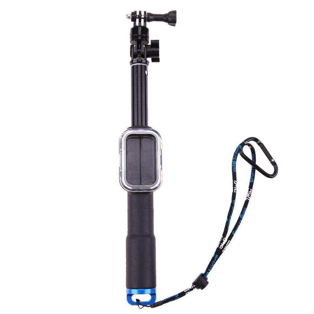 Bewegliche Wasserdichte 39 zoll Ausziehbare Handstativ Einbeinstativ für Gopro Hero 5 4 3 SJCAM Drahtlose Fernbedienung
