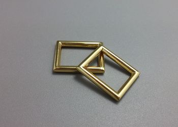 16x12mm High quality Gold Square ring for Bag parts Bag hardware accessory, Shoes, Buckle belt parts