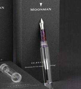 Image 5 - Moonman C1 PMMA 투명 투명 아크릴 만년필 F 펜촉 그립 색상 무작위로 편지지 사무 용품