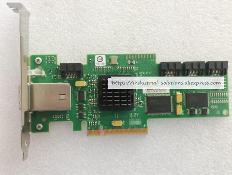SAS344E FRU:25R8071 SAS RAID LSI SAS3444E array card 100% tested perfect quality 375 3536 sas raid with battery array card pci e sas card 100% test good quality