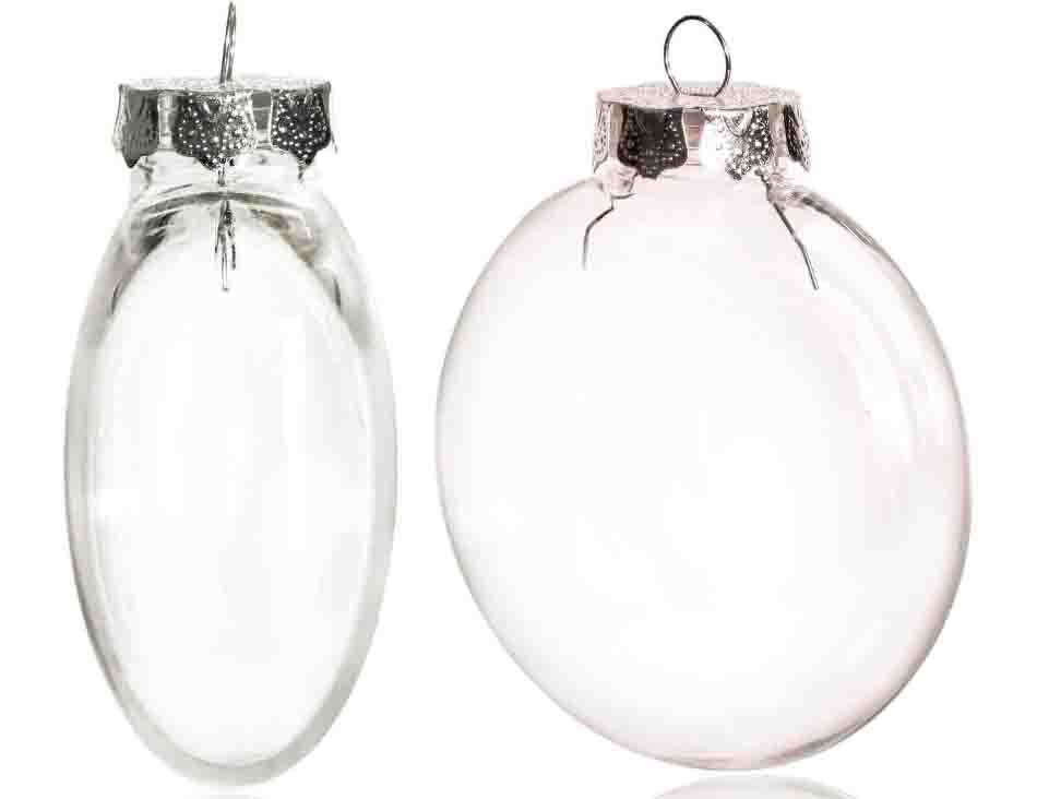 Freies Verschiffen DIY Lackierbar/Bruchsicher Klar Weihnachten Ball, Silber Kappe Kunststoff Disc Ornament, 100/Pack-in Ball-Ornamente aus Heim und Garten bei  Gruppe 2