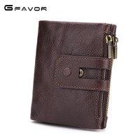 Genuine Leather Men Wallet Small 2018 New Men Walet Zipper Hasp Male Portomonee Short Coin Purse