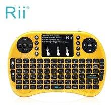 LED Retroiluminada teclado Ruso Rii mini i8 2.4G Wireless Gaming keyboard con el Touchpad del ratón para PC HTPC Android/Smart TV Box