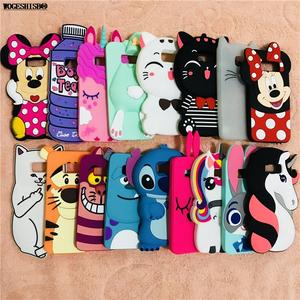 Silicone-Case Stitch-Bottle-Cover Unicorn Cases Minnie S7-Edge Bunny S8-Plus 3d Cartoon