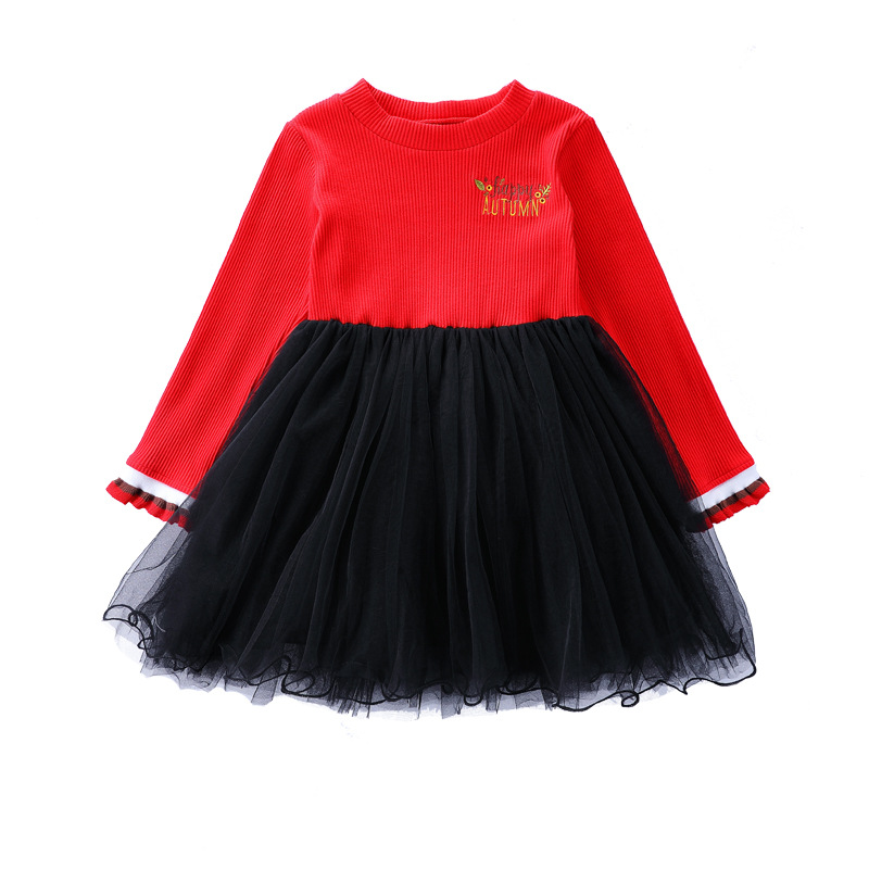 New Arrive Girls Princess Dresses Girls Clothing Long Sleeve Embroidery Knitted Children Clothes Fashion Baby Girl Dress CA110