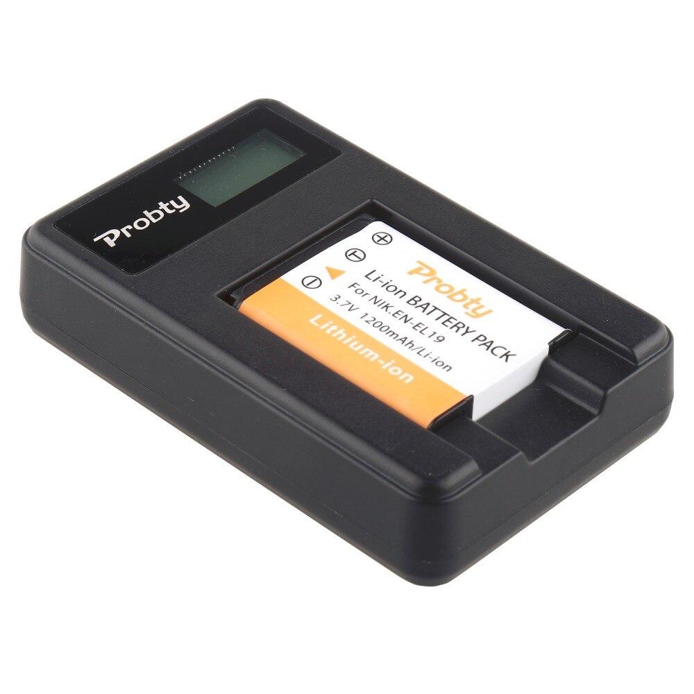 Probty 1x en-el19 en el19 Baterías para cámara + LCD cargador USB para Nikon s2500 s2600 s2700 S3100 s3200 s3300 s3500 s4100 s4150 s6500