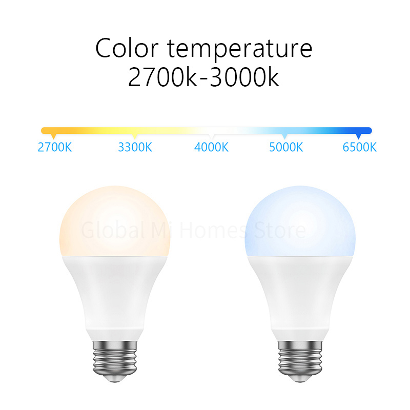 Xiaomi TF Smart Wifi LED Bulb with Dimmable light 8W 800 Lumens Smart Lamp Mi Light Xiomi Mijia Smart Phone WiFi Remote Control in Smart Remote Control from Consumer Electronics
