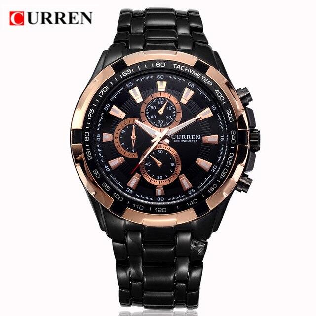 29528a0502b CURREN Homens Relógios Top Marca de Luxo De Ouro Relógio De Quartzo Preto  Homem Esporte Militar