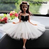 CXZYKING Đẹp 3D Mắt Thực Sự Barbie Doll + Wedding Dress 2017 thời trang Đồ Chơi Cho Trẻ Em Trẻ Em Cô Gái Chơi Đồ Chơi Nhà 3 phong cách