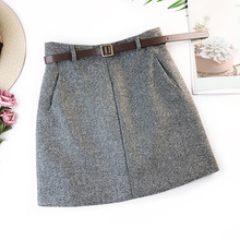 2019 Spring New Arrival Vintage Temperament High Waist A-line Office Skirts Wome