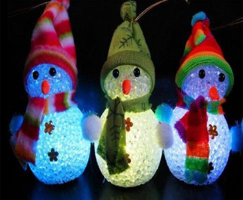 Led flash light snowman candle christmas decoration pendants christmas tree ornament bar party - Appealing christmas led candles for christmas decorations ...