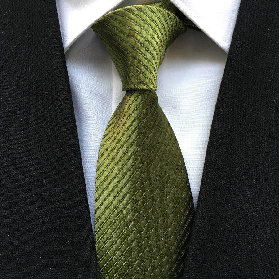 Unique Woven Necktie Solid Green Ties Match Shirt Suits