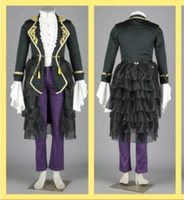 Vocaloid suit Gakupo Cosplay Costume Kamui Gakupo set jacket font b shirt b font pant apron