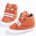 2016 Nueva Moda Bebé Recién Nacido Niños Zapatos de Prewalker Zorro Infantil Cuna Niño Inferior Suave antideslizante Zapatillas sapatos infantil
