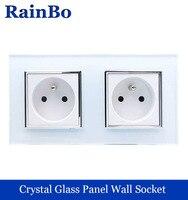 Wall Socket Andard Power Socket White Glass Panel AC Wall Power Smart Outlet Socket Adapter Black