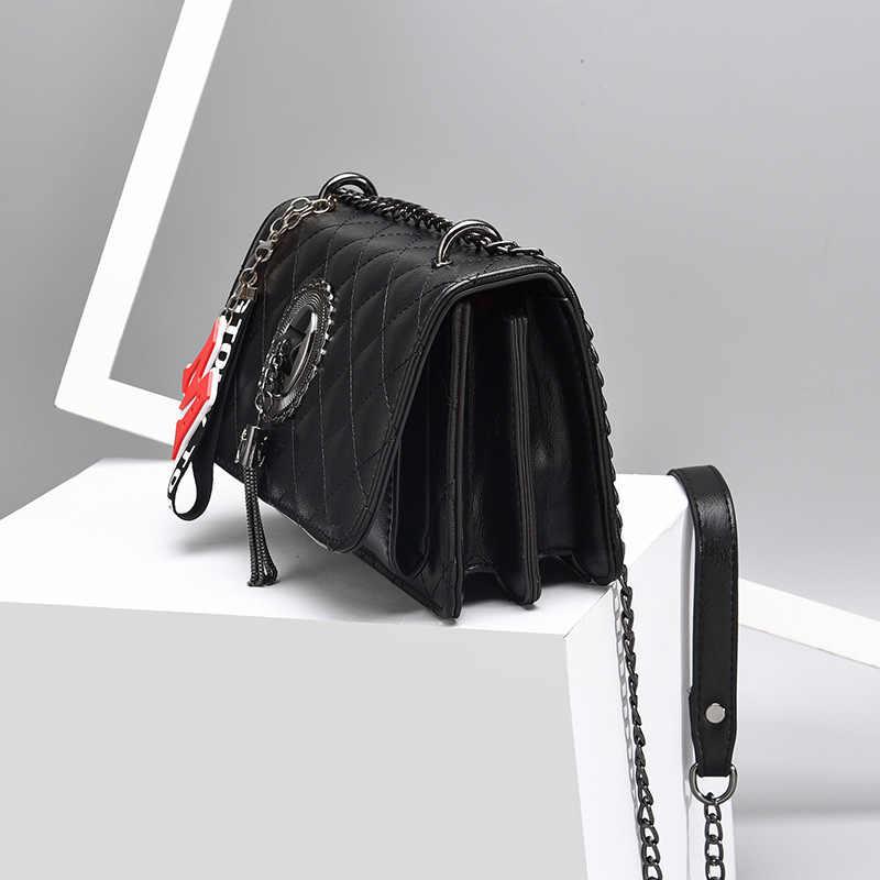 Новая Корейская женская модная сумка на плечо, женская сумка-мессенджер, мини-клатч для вечеринок, с кисточками, с ромбовидной решеткой, сумка через плечо