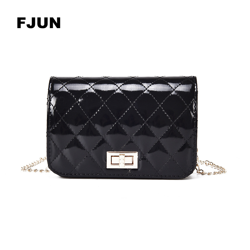 Best buy ) }}FJUN 2018 Famous Popular Design New Women Luxury Quilted Plaid Chains