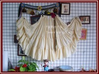 4tiered 20yards100%cotton tribal belly dance skirt EM08
