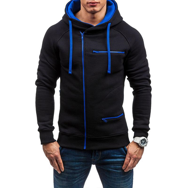 Mens font b Slim b font Fit Sweatshirt Hoody New Fashion Long Sleeve Hooded Outwear Casual