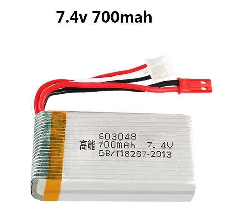 YUKALA 7.4V 700 mAh/1000 MAH 25C Lipo batterie pour X600 F46 modèle d'avion JXD391V Lipo batterie 2s 7.4V 700mAh 603048