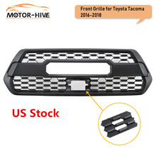 Front Hood Black Grille for Toyota Tacoma TRD PRO 2016 17 18 2019 Mesh Racing Grill Plastic Car Accessories with Letter US Stock