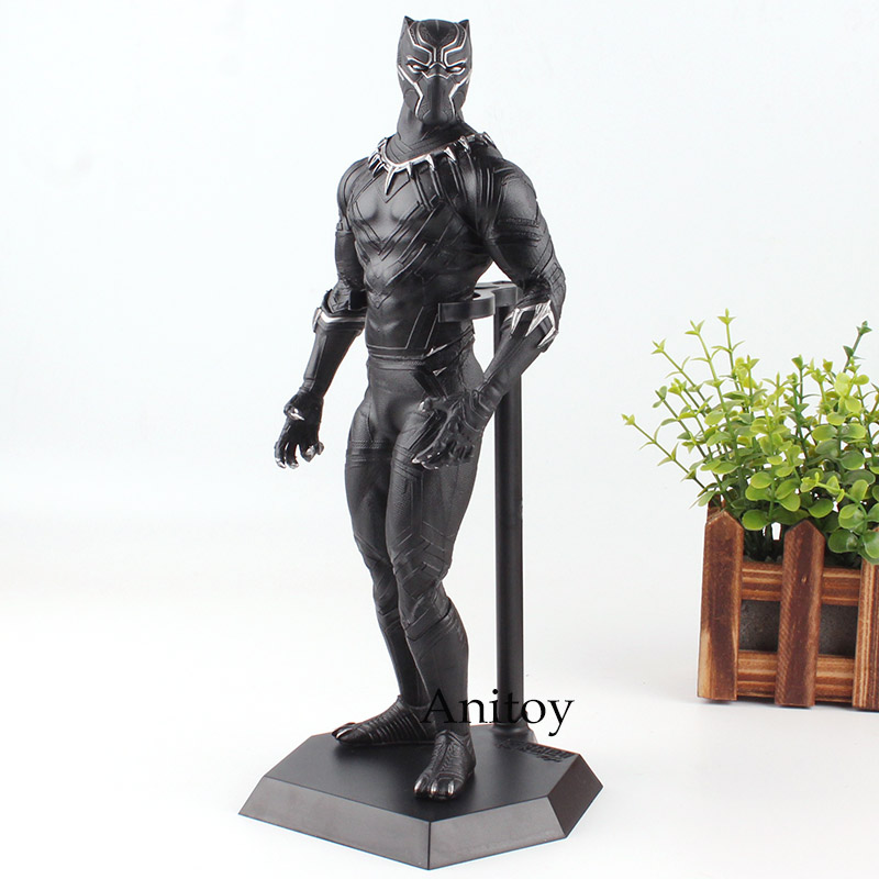 Crazy Toy Marvel Figure Black Panther Action Figure PVC Collectible Model Toy 30cm