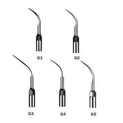 5 قطع الأسنان المتسلق نصائح بالموجات ems/نقار الخشب قبضة g1 g2 g3 g4 g5