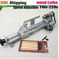 DIY Wood Lathe Mini Lathe Machine Polisher Table Saw for polishing Cutting,metal mini lathe/didactical DIY lathe ship by DHL