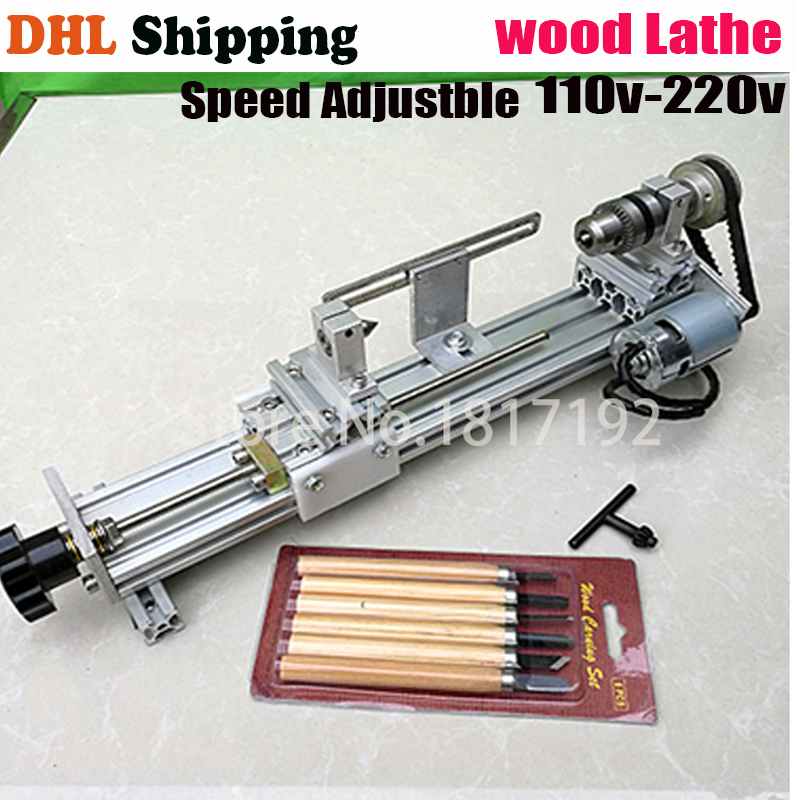 DIY Wood Lathe Mini Lathe Machine Polisher Table Saw for polishing Cutting,metal mini lathe/didactical DIY lathe ship by DHL free shipping by dhl mini ultrasonic polishing machine rtw1400