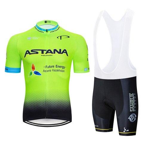 Vestuário dos Homens de Bicicleta Pro Uci World Tour Equipe Astana Ciclismo Roupas Mountain Bike Roupa Ropa Ciclismo Jersey 9d Gel