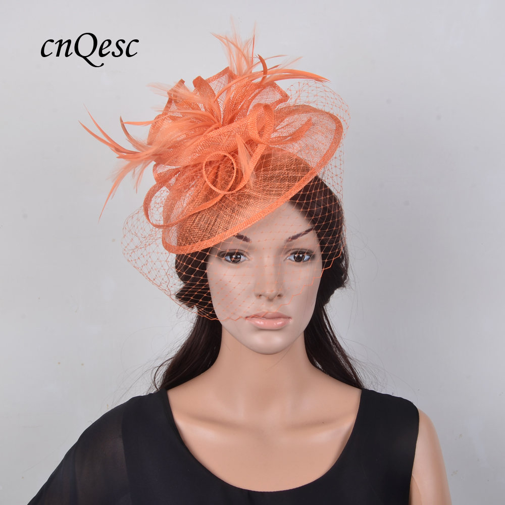 93d2249e Buy orange fascinators hat and get free shipping on AliExpress.com