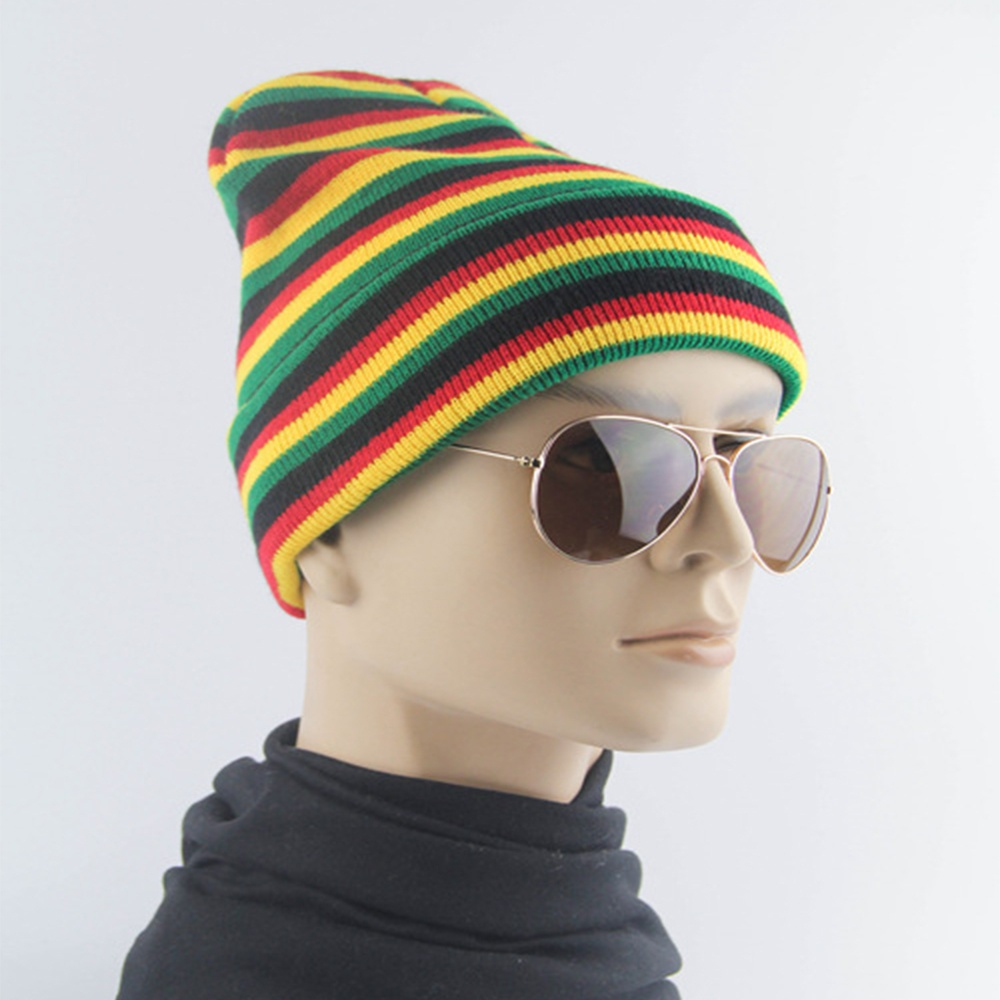 393b262d583 Chunky Knit Hat Womens Knit Baggy Bobble Multi Colour Stripes Good  Quality-in Skullies   Beanies from Apparel Accessories on Aliexpress.com