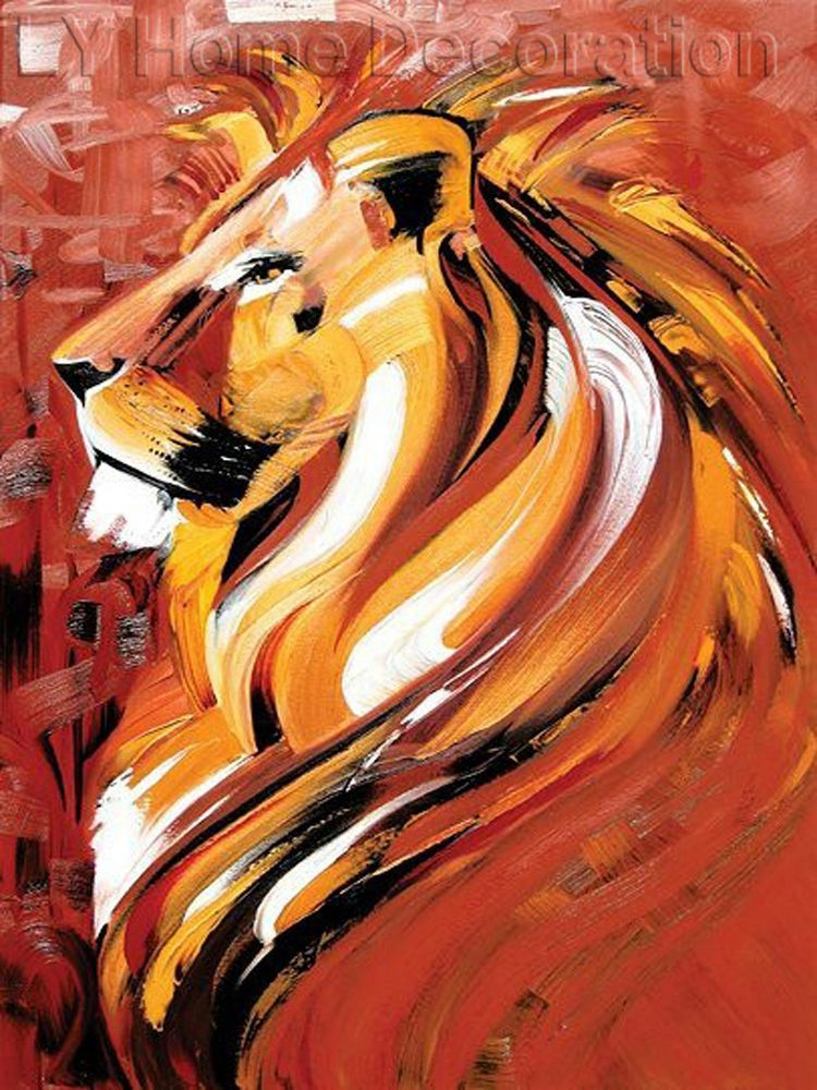 Interior Decoration Items Hand Painted Abstract Animal Portrait ...